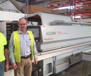HOLZHER reference customer Timberline in Australia with ACCURA edge banding machine